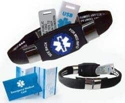 101 Birthday Gifts for Girlfriend - ELITE PLUS USB medical ID bracelet