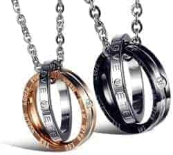 101 Birthday Gifts for Girlfriend - Stainless Steel Couple Pendant Necklace