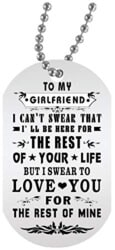 101 Birthday Gifts for Girlfriend - To My Girlfriend Dog Tag With chain