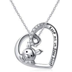 12. Cute Pig Pendant Necklace