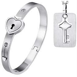 31. Matching Bangle Bracelet Tag Pendant Necklace
