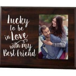 42. Lucky to be in Love Picture Frame