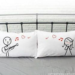 45. Couples Pillowcases