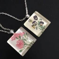 50. Birth Month Flower Pendant