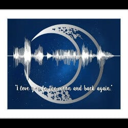 58. personalized sound wave message wall art quote decor