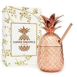 59. Solid Copper Pineapple Tumbler