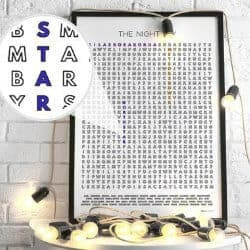 76. Astronomy Check List Word Search Wall Art Poster