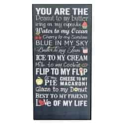 Gifts For Girlfriend - Gifts For Girlfriend - You Are The Peanut To My Butter Wood Wall Plaque Sign