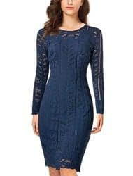 Gifts For Girlfriend - Lace Pencil Dress