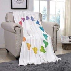romantic gifts for girlfriend - fleece thro blanket
