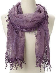 romantic gifts for girlfriend - lace scarf