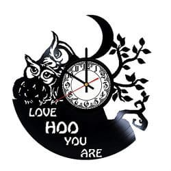 romantic gifts for girlfriend - vinyl wall clock