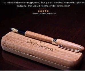 14. Dryden Luxury Bamboo Fountain Pen