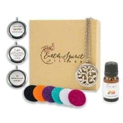 33. Aromatherapy Essential Oil Necklace Diffuser Gift Set