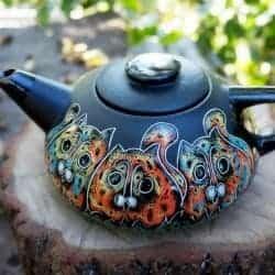 47. cat teapot