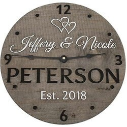 48. personalized wooden wall clock