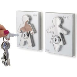 49. His and Hers Key Holders