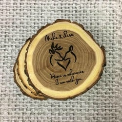 52. Engraved Log Coasters