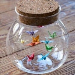 78. Origami Birds in a Bottle