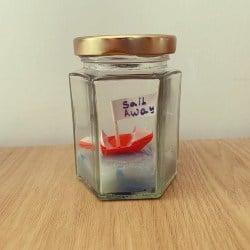 78. Origami Boat in Glass Jar (1)