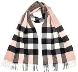 Gift Ideas for Wife - Burberry Women's Large Classic Cashmere Scarf Ash Rose