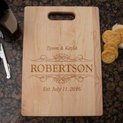 Gift Ideas for Wife - Personalized Engraved Cutting Board