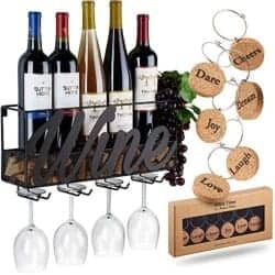 Gift Ideas for Wife - Wall Mounted Wine Rack