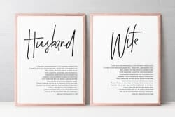 Gift Ideas for Wife - Wedding Vows Wall Art
