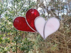Stained Glass Patchwork Heart Suncatcher (1)