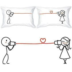 anniversary gifts for girlfriend - couples pillowcases