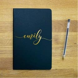 anniversary gifts for girlfriend - name notebook
