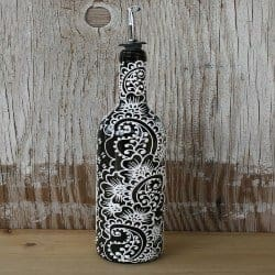 Birthday Gifts for Wife - Hand Painted Wine Bottle