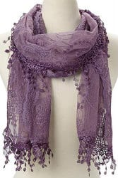 romantic gifts for wife - lace scarf