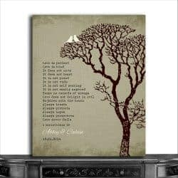 romantic gifts for wife - metal art print