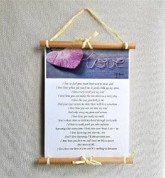 romantic gifts for wife - poem wall art