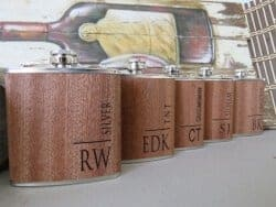 cool gifts for dad - Custom Wood Flask