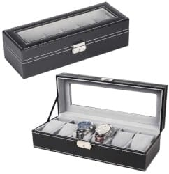 cool gifts for dad - Leather Watch Box