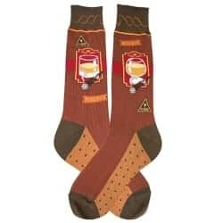 cool gifts for dad - Men's Beverage-Themed Socks