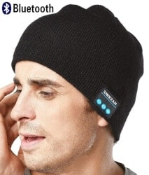 cool gifts for dad - XIKEZAN Upgraded Unisex Knit Bluetooth Beanie Hat Headphones
