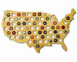 Gifts For Dad Who Has Everything -beer cap map
