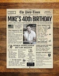 Gifts For Dad Who Has Everything -birthday newspaper