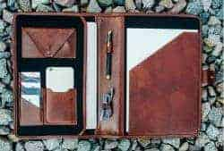 Gifts For Dad Who Has Everything -leather portfolio