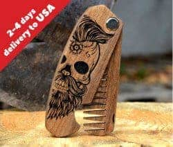 Gifts For Dad Who Has Everything -sugar skull comb