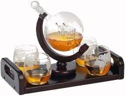 Globe Whiskey Decanter Gift Set (1)