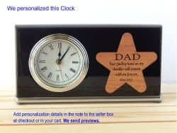 birthday gifts for dad - 1. dad clock