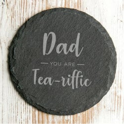 birthday gifts for dad - slate coaster