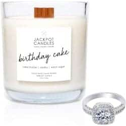 Birthday Cake Candle with Ring Inside