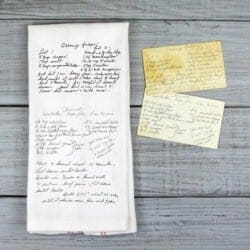 Custom Printed Recipe Tea Towel