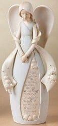 Foundations Serenity Prayer Angel Stone Resin Figurine