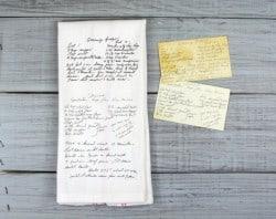 Gifts for Mom - Custom Printed Recipe Tea Towel